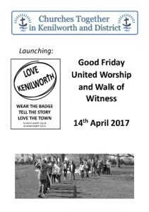 Good Friday service sheet 2017